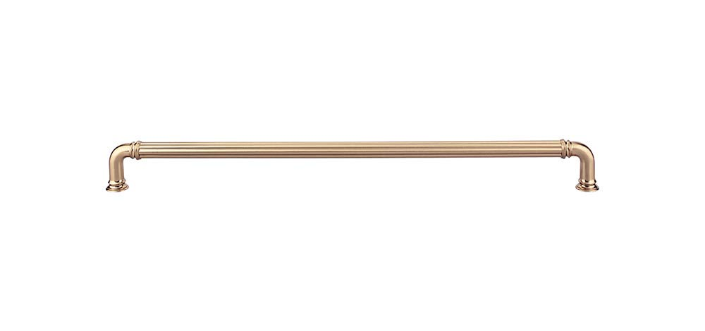 Top Knobs - TK328HB - Reeded Appliance Pull 18'' - Honey Bronze - Chareau Collection