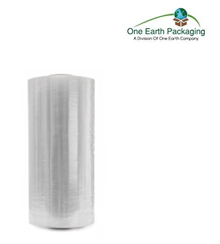 One Earth 18 Inches x 1500 Ft. Clear Stretch Film: 1 Roll- 80 Gauge Stretch Wrap (Packaging Film)