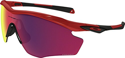 Oakley Men's M2 Frame Xl Non-Polarized Iridium Wrap Sunglasses, Redline, 45 - Wrap Oakley Sunglasses