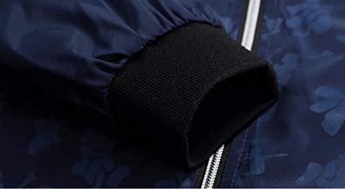 Manga Bomber 1 Coat Bomber Los Vintage Hombres Vestir Fit Exteriores Outwear Classic Collar Prendas Windbreaker Larga Jacket Stand De blau Ocasionales Chaquetas Tamaño De Slim Zip De Más Ligeros cBW8WYap