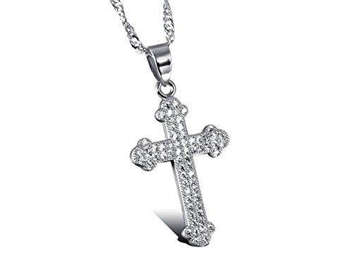 BYY New Micro-inlay Zircon Cross Clavicle Diamond Necklace