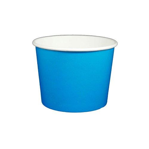 16 oz Yogurt Paper Cups- 1000 Count (Solid Blue)
