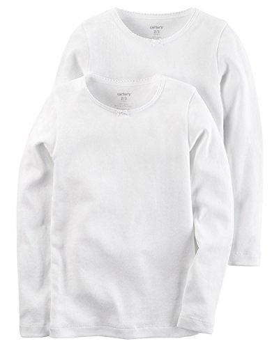 Carters Girls 2-Pack Cotton Longs sleeve Undershirts (4-5)