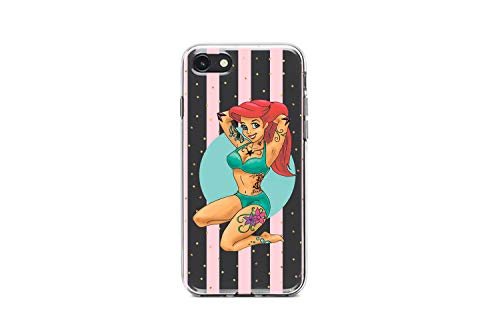 Koldan Tattooed Ariel Case iPhone 5 5s SE Disney XR X iPhone XS Max 7 Plus 6 6S Plus 8 Plus Little Mermaid Samsung S9 Plus S8 Plus Clear S8 S9 Note 9 S10 S10е Tattoo Samsung S10 5G S10 Plus md89d