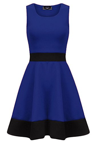 Oops Outlet Damen Skater-Kleid Ärmellos Navy Small