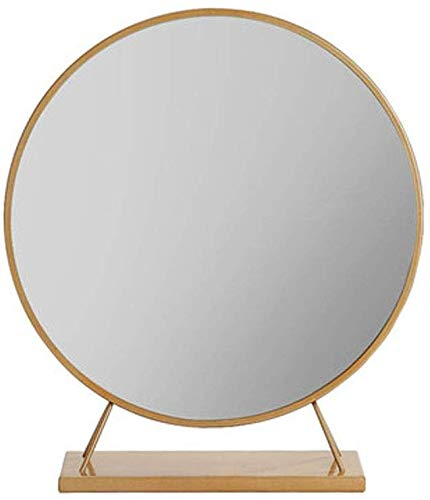 Round Makeup Mirror Portable Magnification Vanity Mirrors Rugged Household Bathroom Living Room -