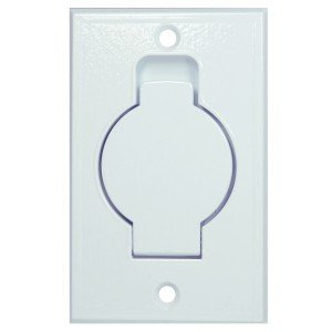 Central Vacuum Inlet Valve, Metal Construction, in White Finish