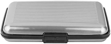Caja Estuche de Tarjeta de Crédito Identificación Metálica de Aluminio Resistente al Agua (gris)