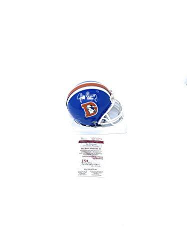 Broncos John Elway Denver (John Elway Denver Broncos Signed Autograph 75-96 Throwback Mini Helmet Elway Player Hologram JSA Certified Certified)