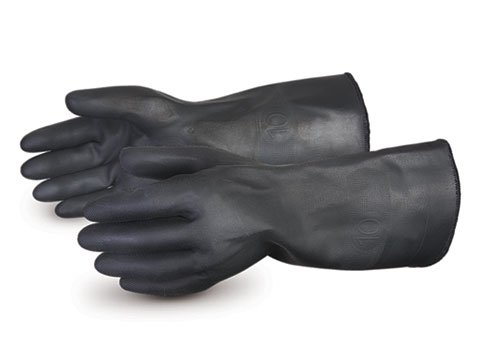 Superior BBQ Gloves - High Heat Resistant Barbecue Gloves up to 400 Degrees on Grill - Insulated Lining Protects Hands - Diamond Grip Neoprene Finish for Increased Grip - Size Medium