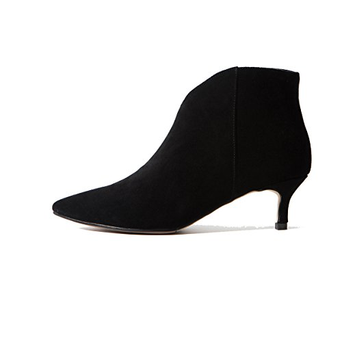 Bottines Pour Mode Moyen Nouveau Style Avec Bottes Black Talon Pointues Fine Femmes xRCAqYwn4w