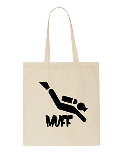 Funny Offensive Bag Shopper Cheeky Diver Beige Muff Tote 6qUfa1BB