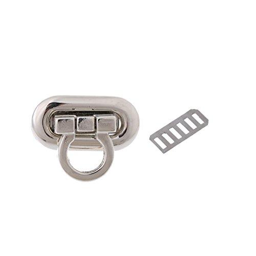 Misright 10 Sets Metal Purse Handbag Twist Turn Lock DIY Handbag Shoulder Bag Purse Hardware Accessories (D)