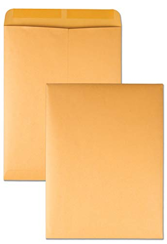 Quality Park Open-End Catalog Envelopes, Gummed, Brown Kraft, 10 x 13, 100 per Box, (41667)