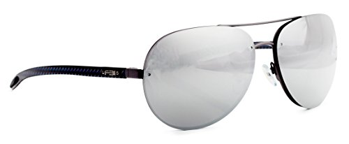 FBI Men's Aviator Polarized Designer Sunglasses with Carbon Fiber Temple, 100% UV BLOCK, 14109 - Fbi Sunglasses