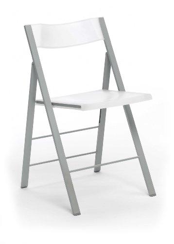 duehome Silla Plegable sillas taburetes, Color Blanco