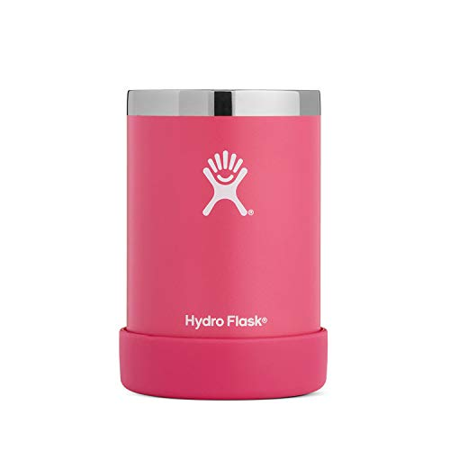 (Hydro Flask 12 oz Cooler Cup - Stainless Steel & Vacuum Insulated - Removable Rubber Boot - Watermelon)