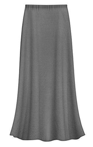 Sanctuarie Designs Gray Slinky Plus Size Supersize Skirt 3x