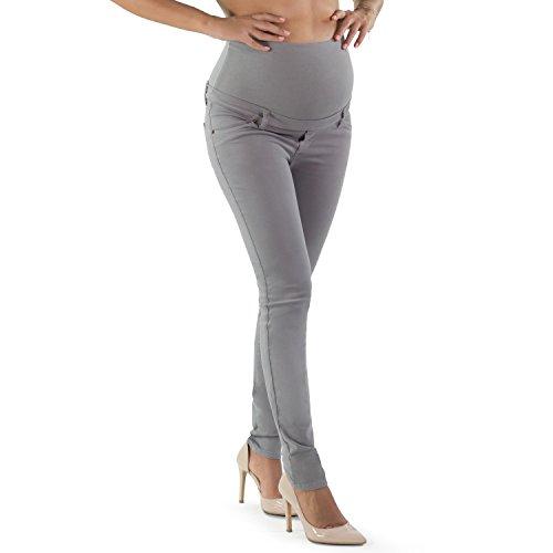 MamaJeans Venezia Skinny Maternity Jeans Made in Italy, Shark Skin, Size - (Cotton Maternity Jeans)