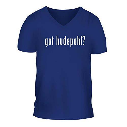 got hudepohl? - A Nice Men's Short Sleeve V-Neck T-Shirt Shirt, Blue, Large (Hudepohl Beer)
