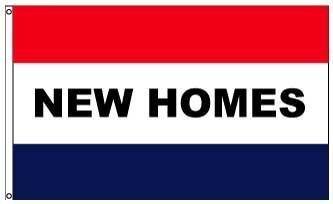 3x5' New Homes Nylon Message Flag - All Weather, Durable, Ou