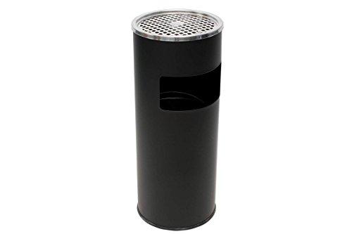 Stand Aschenbecher mit Mülleimer 2 in 1 schwarz 60 cm