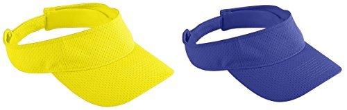 Set Power Mesh - Augusta Sportswear Adult Athletic Mesh Visors Set_Power Yellow & PURPLE_One Size