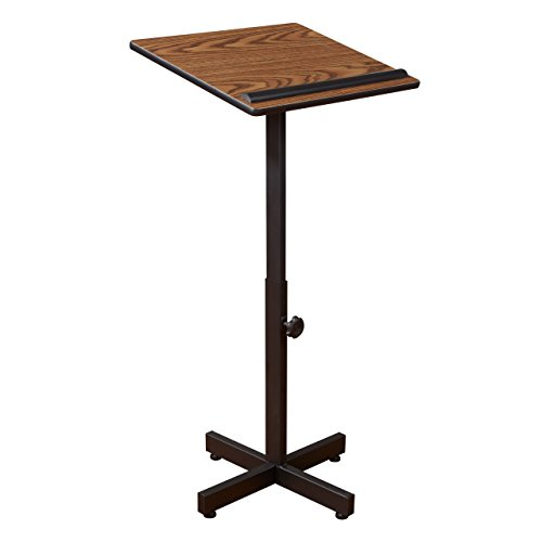 Oklahoma Sound Portable Presentation Lectern, Medium Oak