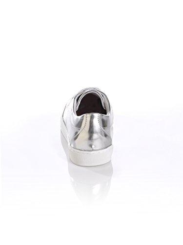Kunstleder Alba aus Schnürer Moda Silberfarben Metallic qnanIwx