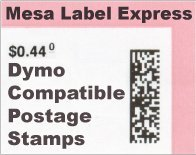 Mesa Label Express? Dymo Compatible SHIP-30915 Endicia Internet Postage Stamps (700 per Roll) by Mesa Label - Labels Mesa