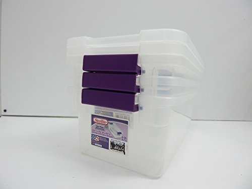 Sterilite 17511712 6-Quart ClearView Latch Box, with Plum Ha