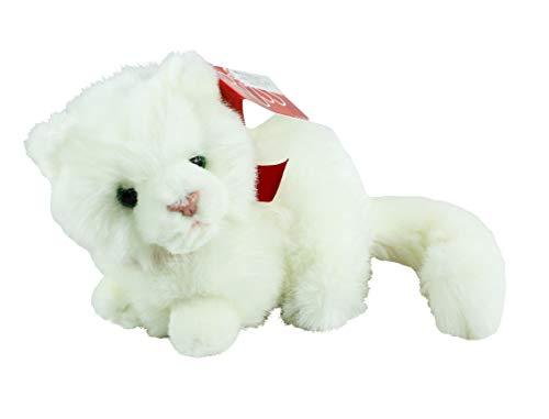 Russ Berrie Nikki White Fluffy Cat 6 Inch Plush Soft Toy