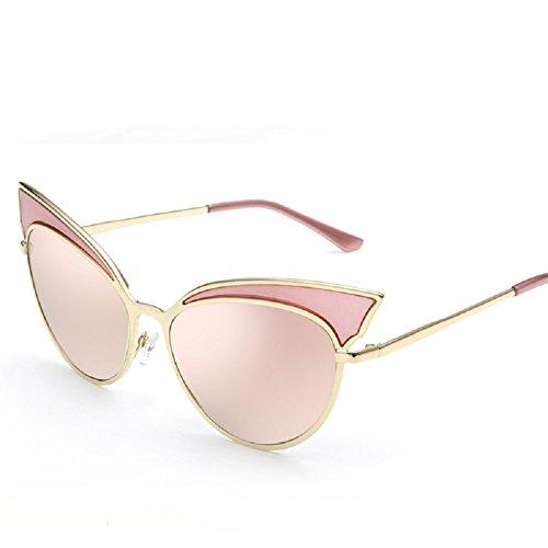 4165d10ac94b41 Embryform lunettes de soleil oeil de chat de mode personnalisé femme Rose