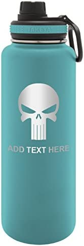 Army Force Gear Personalized Punisher Skull Engraved Thermoflask Stainless Steel Sports Water Bottle Tumbler