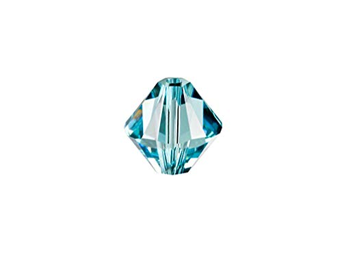 (Swarovski Crystal, 5328 Bicone Beads 8mm, Light Turquoise, Wholesale Packs | Pack of 18 )