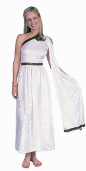 Amazon.com: Women&-39-s White Long Toga Costume (Size: 8-12): Clothing