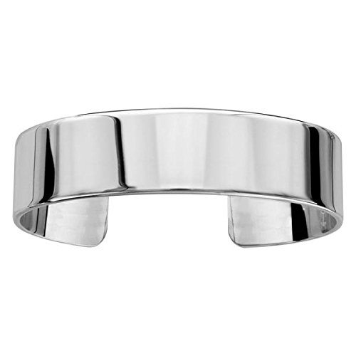 Bracelet Argent 925 Massif Ruban Plat 15 mm