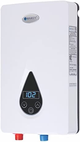 Marey ECO150 220V 240V-14.6kW Tankless Water Heater with Smart Technology, Small, White