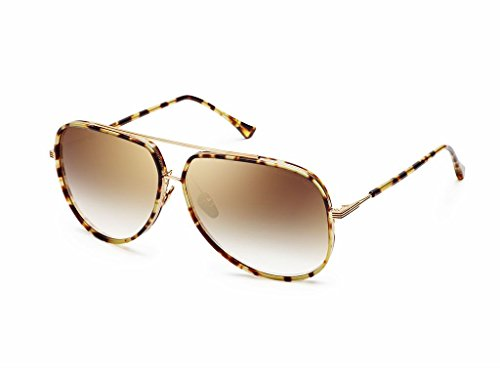 DITA Condor Two 21010-A-TKT-GLD Sunglasses, Multi Colored  Frame 62mm w/ Brown Gradient Lens (Dita Sunglasses)