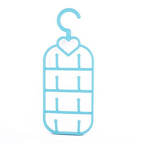 eDealMax plástico hogar ropa de la toalla Escudo Sombrero Bufandas  Calcetines Titular Percha Azul Tendedero b7e81b1caa8