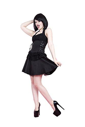 H&R Women's Black Gothic Mini Dress