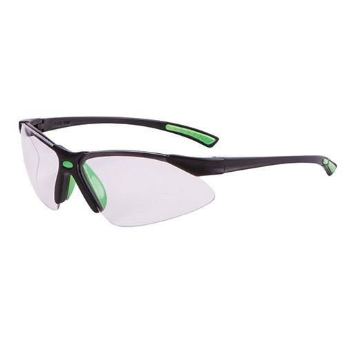 Allen Gamma Junior Z87+ Impact Resistance Shooting Glasses, Black/Neon Green
