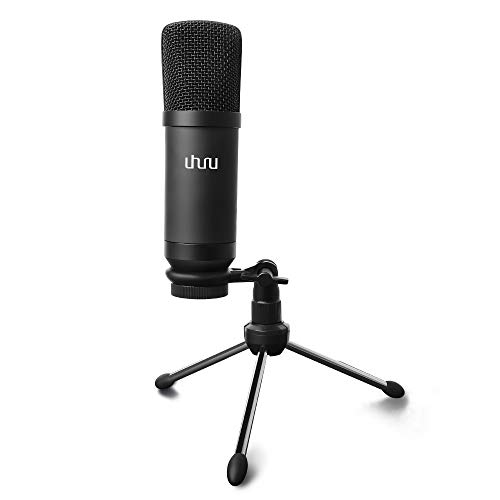XLR Condenser Microphone, UHURU XM-960 Professional Studio Cardioid Microphone with Table Tripod for Broadcasting, Recording, YouTube, Streaming and Gaming