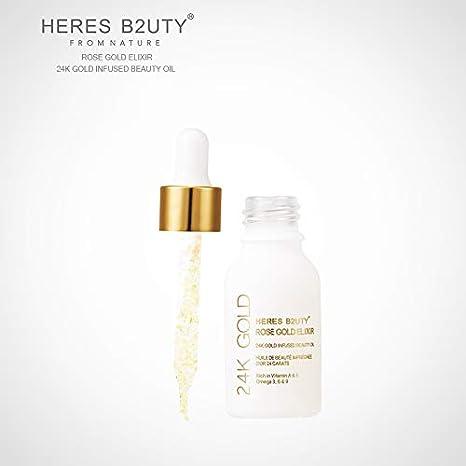 Marca Heres B2UTY 24 K oro con belleza Petróleo Primer Fundación ricos en vitamina A y E Hidratante Antienvejecimiento acné tratamiento Acido: Amazon.es: ...