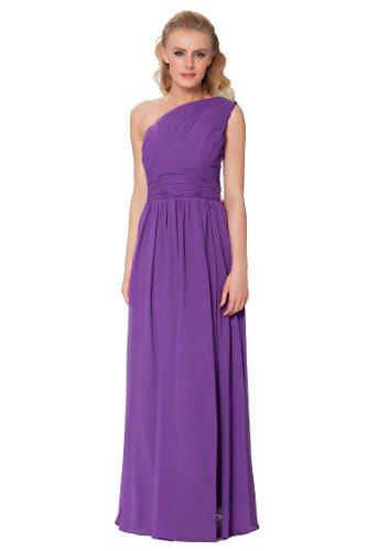 SEXYHER Gorgeous Encuadre de cuerpo entero Uno damas de honor del hombro vestido de noche formal - EDJ1596 Royalpurple