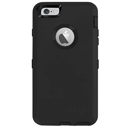 AICase iPhone 6 Plus Case,iPhone 6S Plus Case [Heavy Duty] Built-in Screen Protector Tough 4 in 1 Rugged Shockproof Cover for Apple iPhone 6 Plus / 6S Plus (Black)