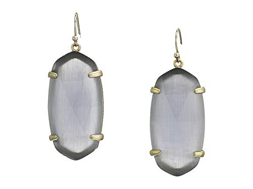 - Kendra Scott Esme Drop Earrings (Gold and Slate Cats Eye)