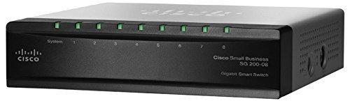 Cisco SG200-08 8-port Gigabit Smart Switch (SLM2008T-NA) by Cisco by Cisco