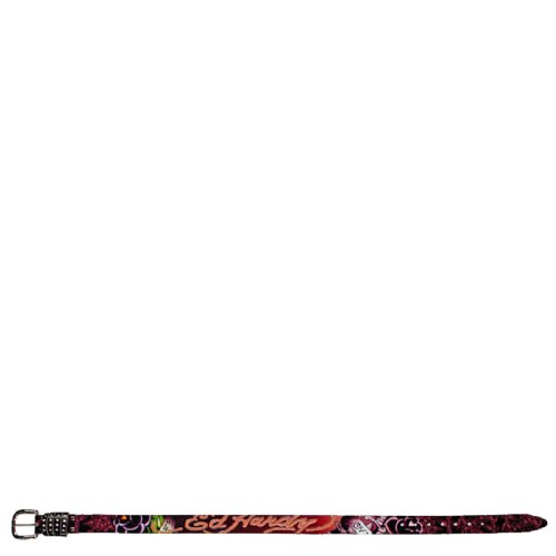 Ed Hardy Black Leather - Ed Hardy EH3291 Roses Garden-Kids Girls-Leather Belt