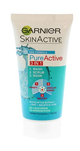 Garnier Pure Active 3-In-1 Scrub, 50 ml